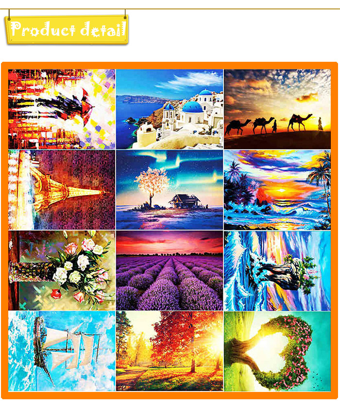 Paper Painting 3D Jigsaw Puzzle Block Toy Birthday Christmas Gift