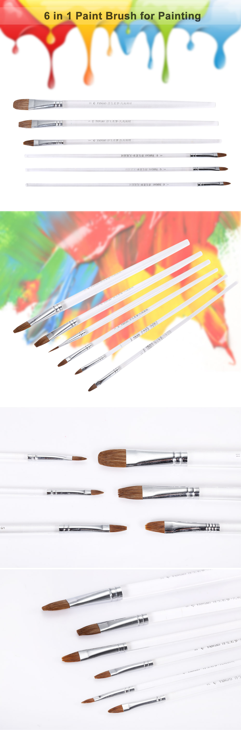 Creative 6 in 1 Painting Brush Drawing Tool