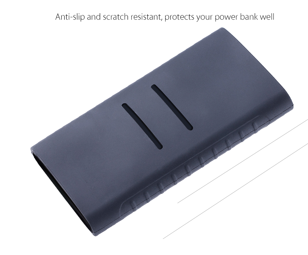 Super Soft Silicone Cover Protective Case for Xiaomi 10000mAh Power Bank 2