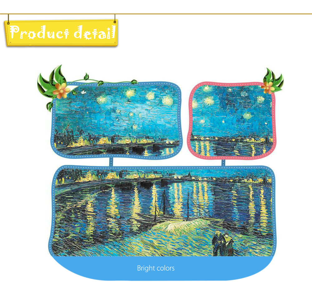 3D Paper Painting Puzzle Block Birthday Christmas Present