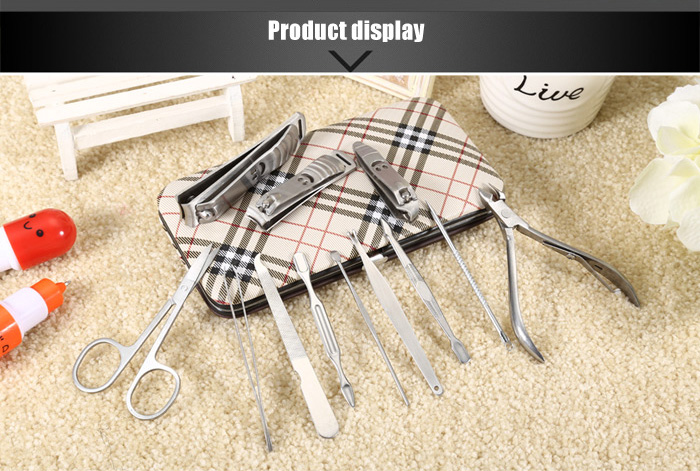 Stainless Steel Nail Care Manicure Pedicure Grooming Kit Beauty Tools