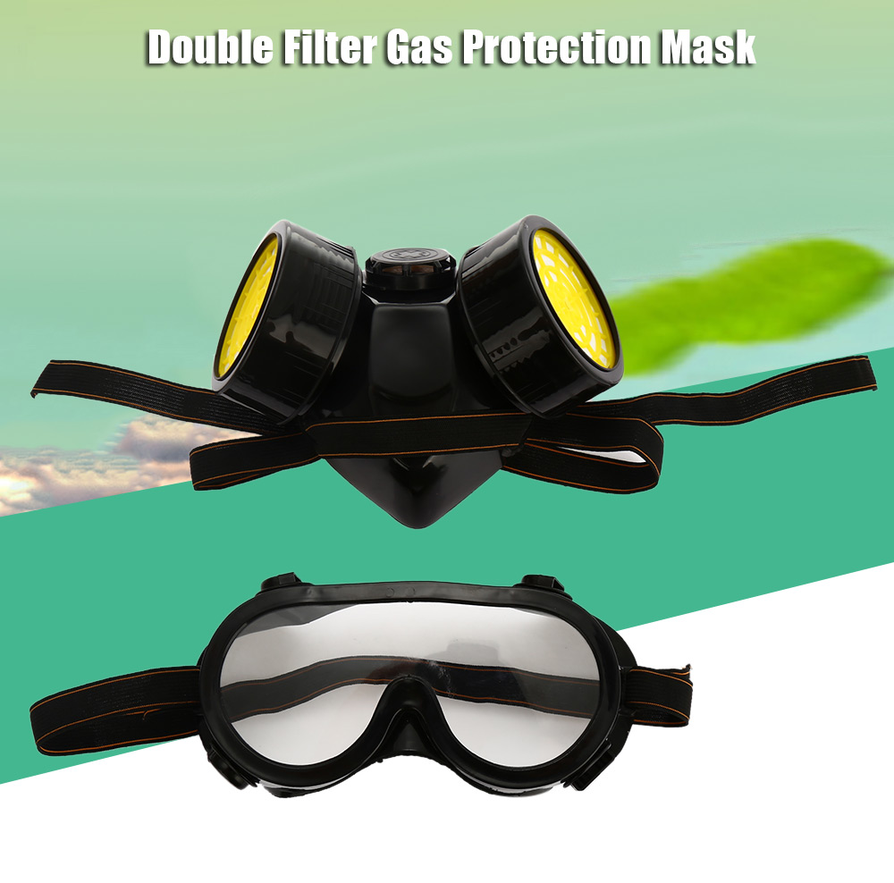 Antigas Double Filter Gas Protection Mask for Emergency