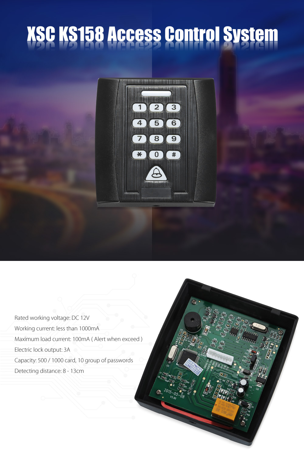 XSC KS158 Access Control System Entrance with Password / Inductive Card