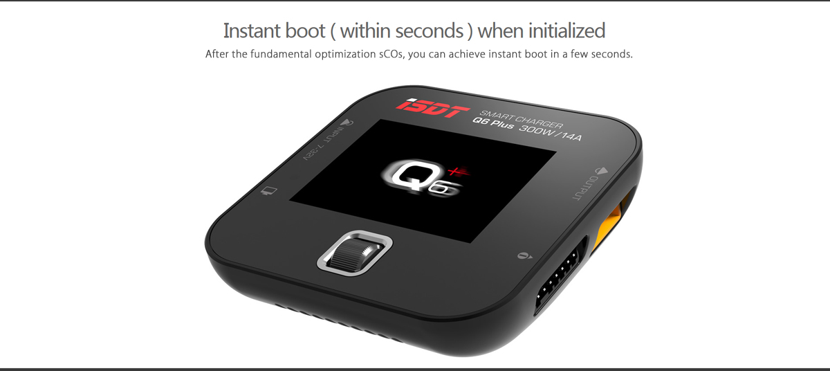 iSDT Q6 Plus 300W 14A Mini Pocket Balance Charger with 32-bit CPU 2.4 inch 178 Degree Visible IPS Display