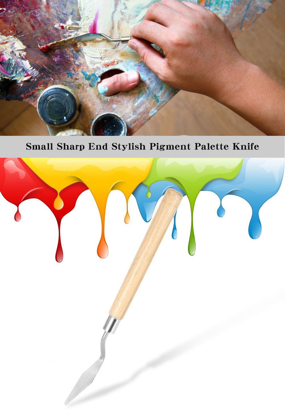Small Sharp End Hot Sale Pigment Palette Knife