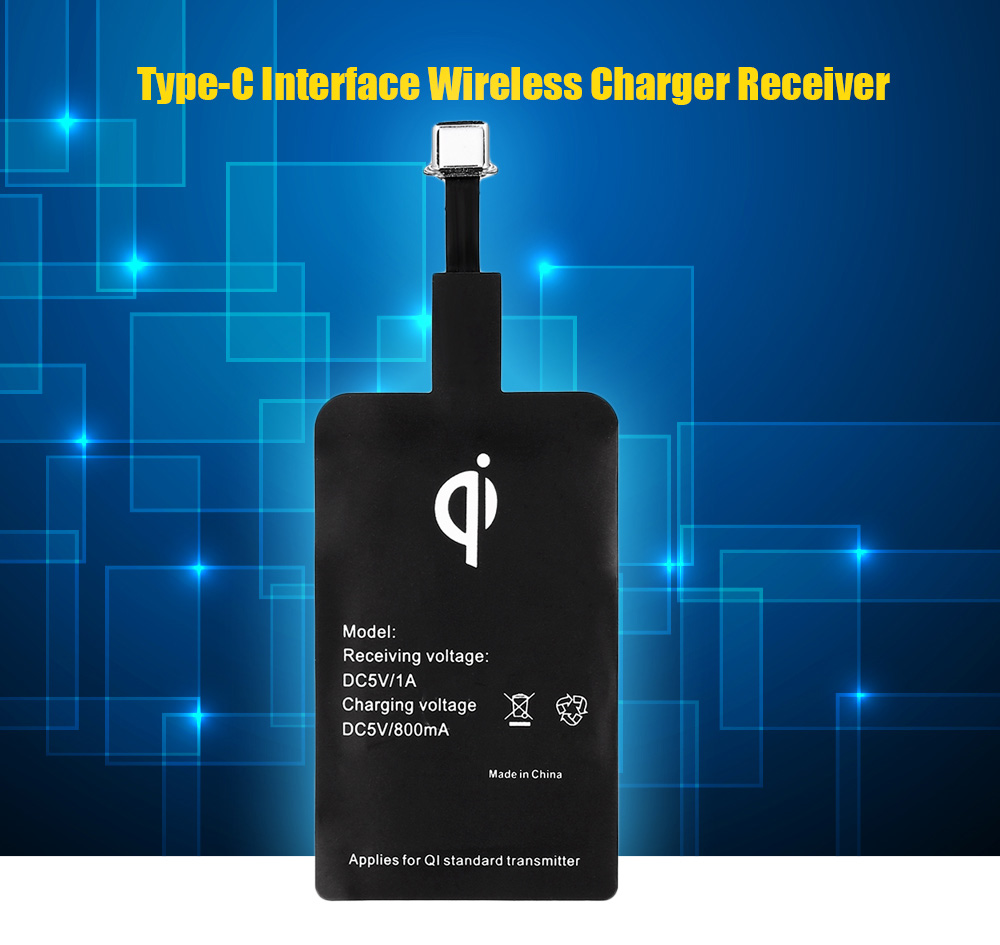 Qi Standard Type-C Wireless Charger Receiver Patch Acceptor