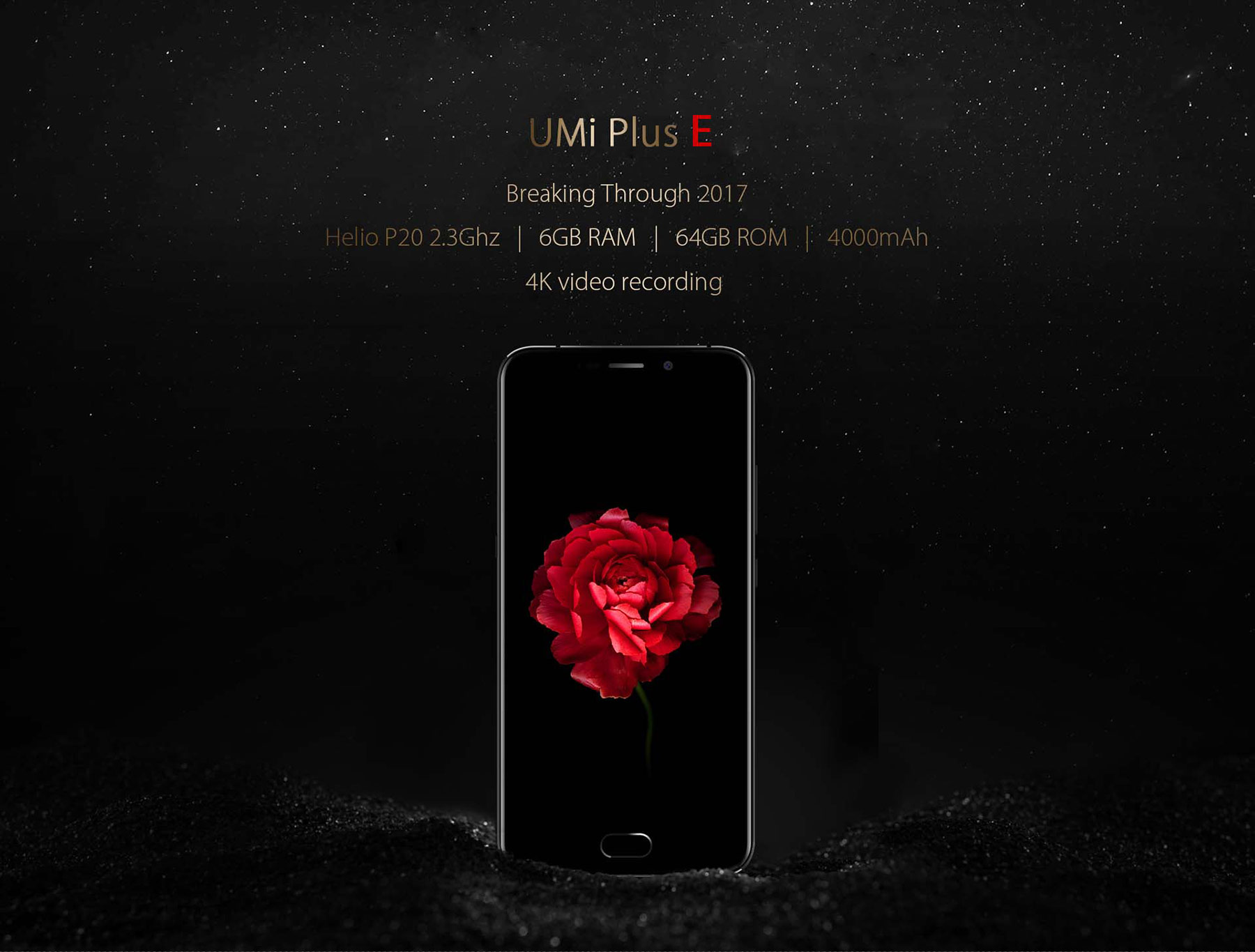 UMI Plus E Android 6.0 5.5 inch 4G Phablet Helio P20 Octa Core 2.3GHz 6GB RAM 64GB ROM Fingerprint Scanner