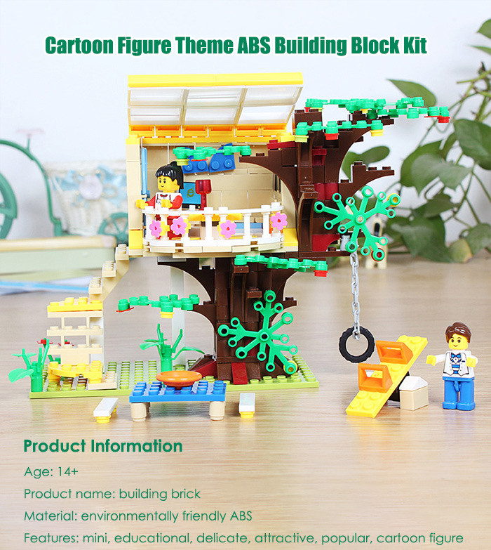 ABS House Miniature Kit with Figure DIY Building Block Toy