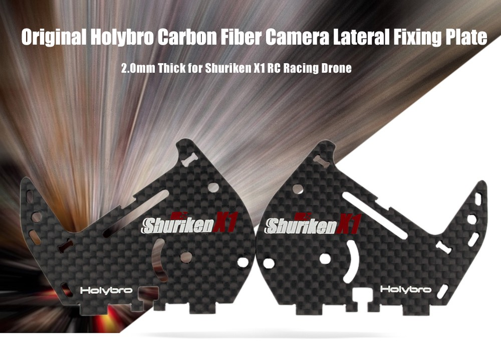 Original Holybro 2.0mm Thick Carbon Fiber Camera Lateral Fixing Plate 2pcs for Shuriken X1 RC Racing Drone