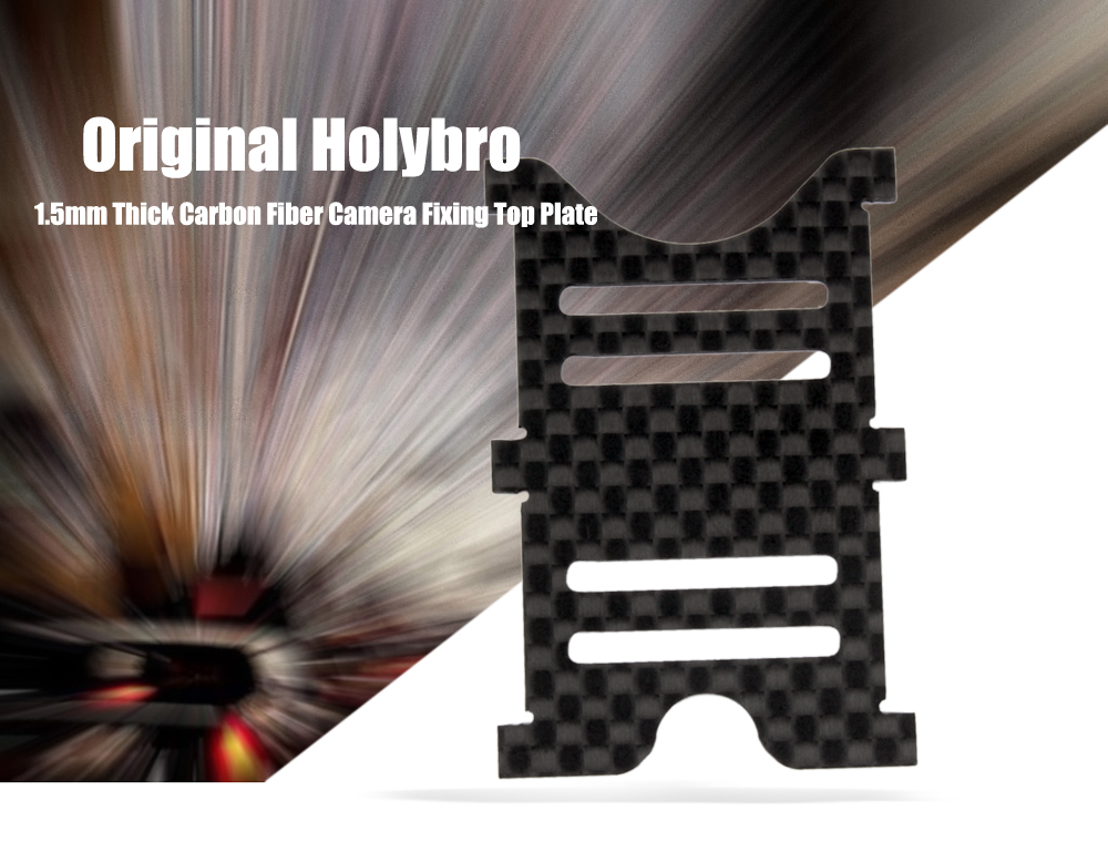 Original Holybro 1.5mm Thick Carbon Fiber Camera Fixing Top Plate for Shuriken X1 RC Racing Drone