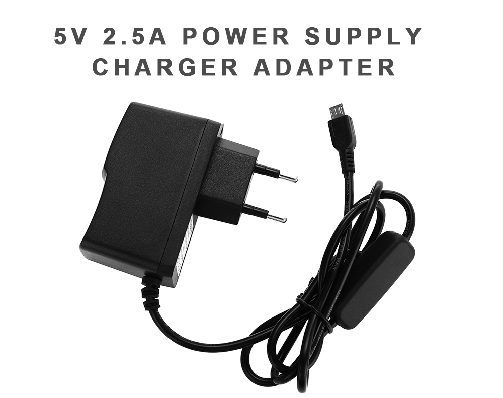 5V 2.5A USB Power Adapter with AC Switch
