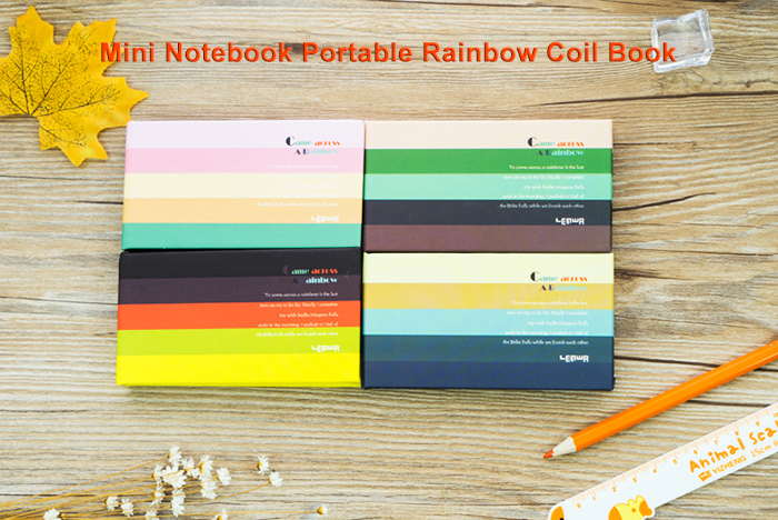 Mini Notebook Rainbow Coil Book