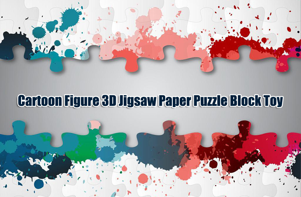Paper Hero Style DIY 3D Puzzle Block Toy Birthday Christmas Gift