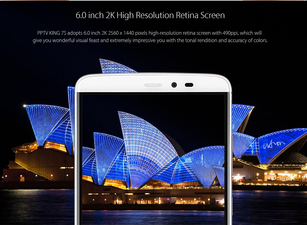 PPTV King 7S Android 5.1 6.0 inch 4G Phablet Helio X10 Octa Core 2.0GHz 3GB RAM 32GB ROM 8.0MP + 13.0MP