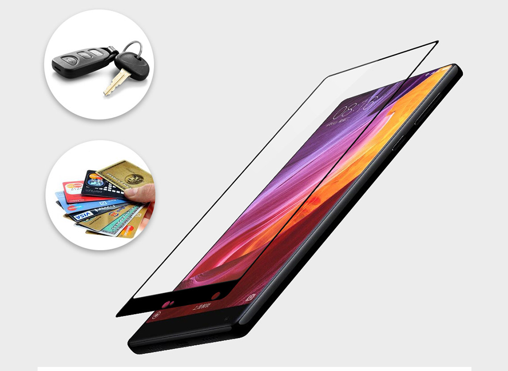 Luanke Tempered Glass Full Cover Screen Protective Film for Xiaomi Mi MIX 0.3mm 2.5D 9H Explosion-proof Protector