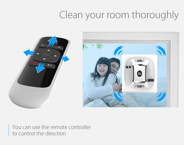 Cop Rose x6 Smart Robotic Vacuum Window Cleaner for Home Office