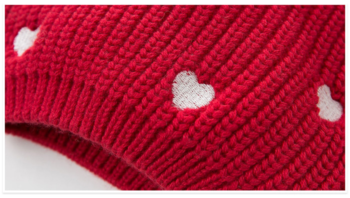dave bella Winter Infant Baby Heart Soft Cute Knitted Kid Hat Cap