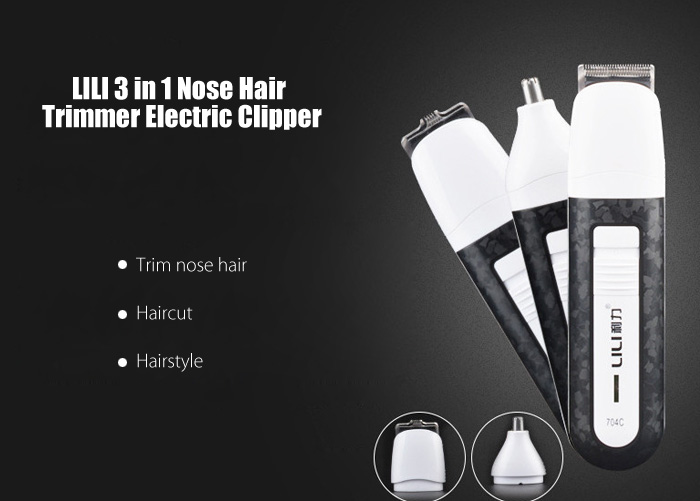 LILI 704C Multifunctional Low Noise Nose Hair Trimmer Electric Clipper