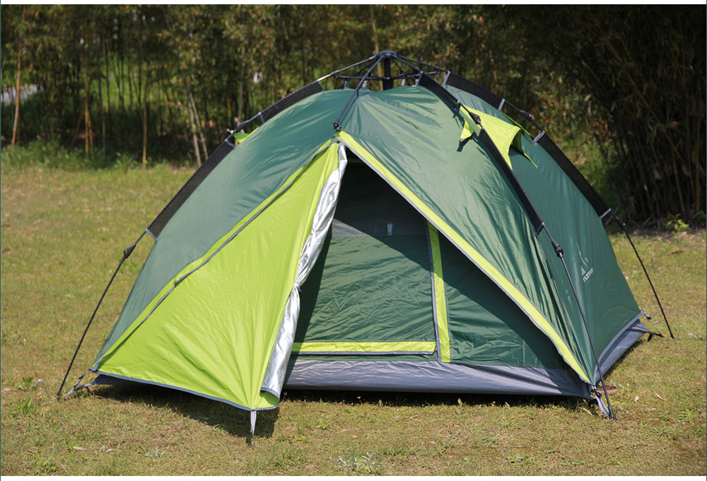 FLYTOP Water-resistant Polyester 4-person Automatic Camping Tent with Thickened PU-coated Layer