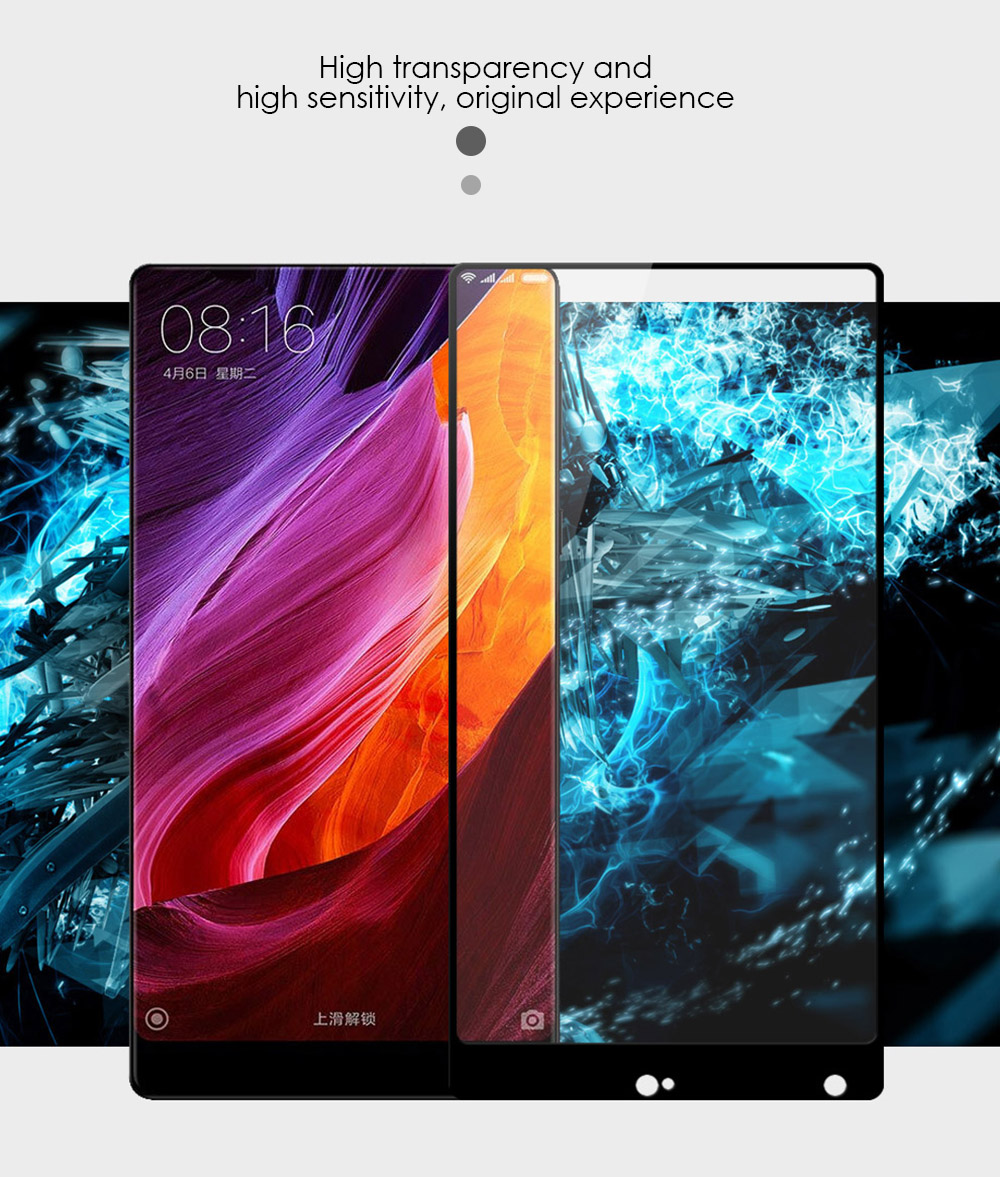 Luanke Tempered Glass Full Cover Screen Protective Film for Xiaomi Mi MIX 0.26mm 2.5D 9H Explosion-proof Protector