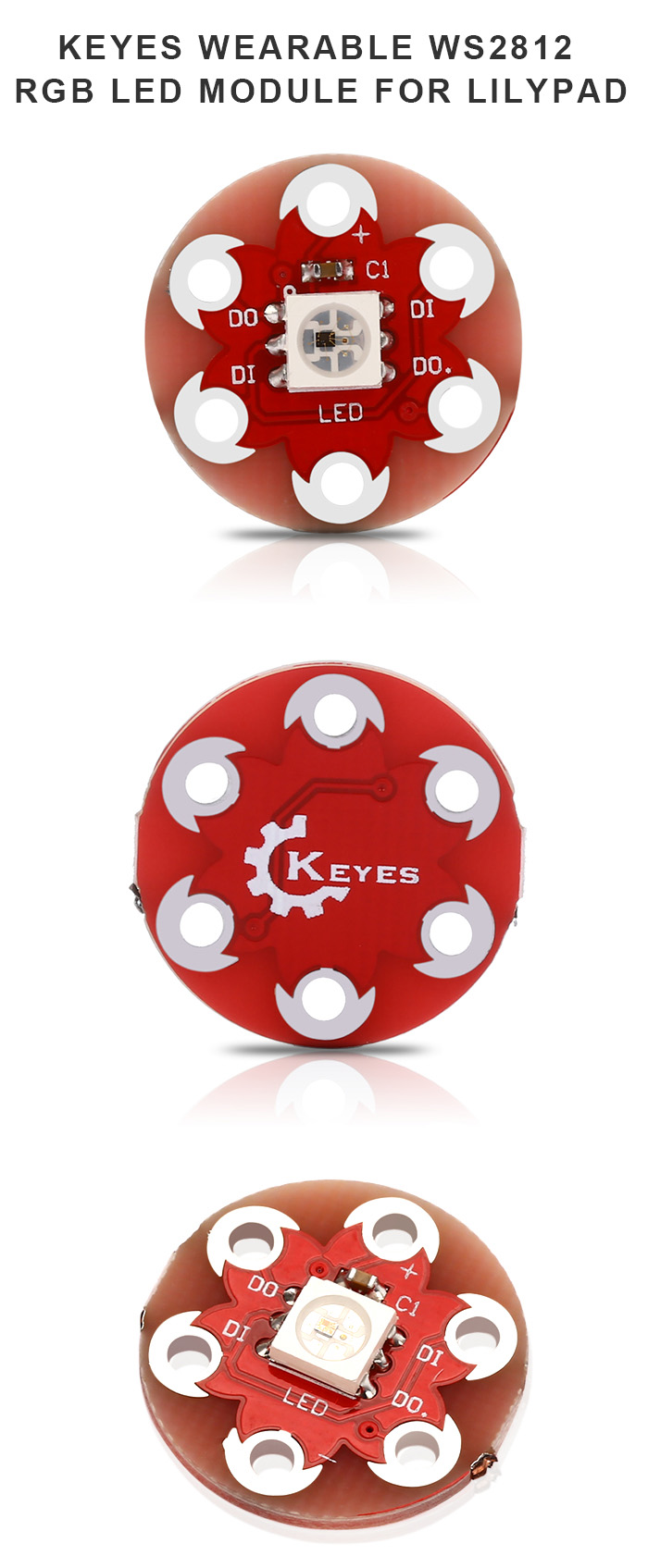 KEYES Wearable WS2812 RGB LED Module for LilyPad