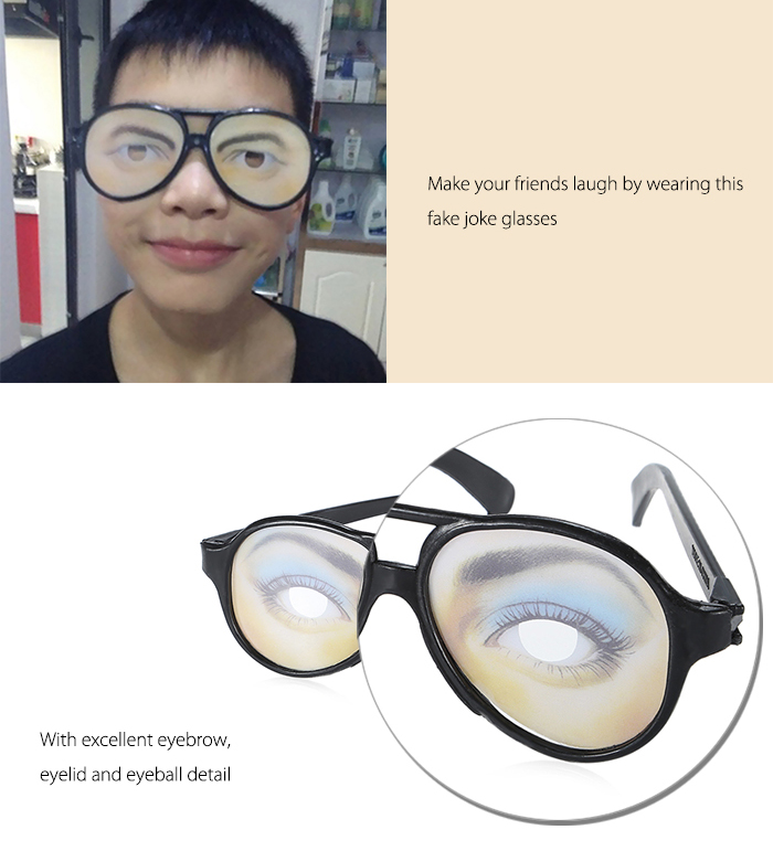 Glasses Style Stress Reliever Pressure Reducing Trick Toy for Office Worker - 1pair