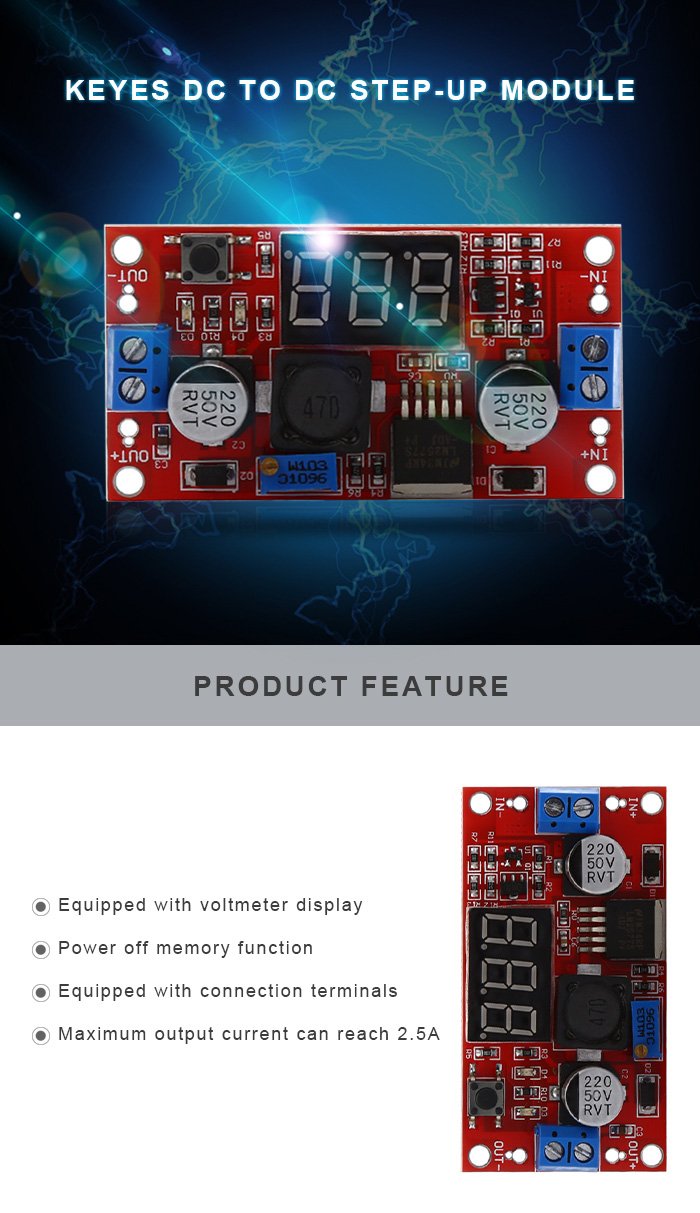 KEYES DC to DC Step-up Module for DIY Project