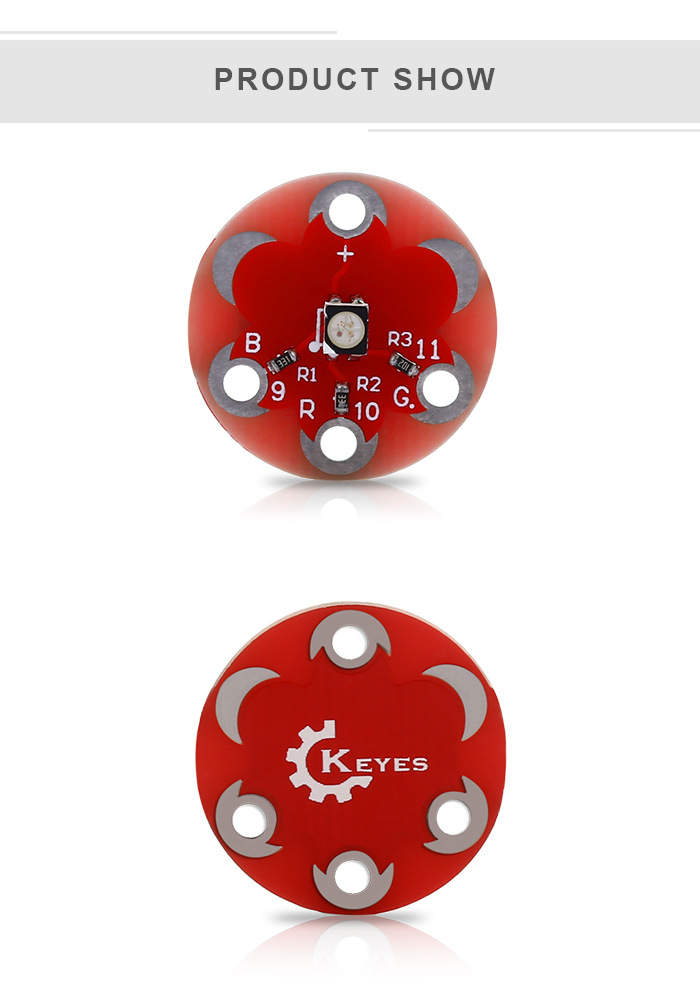 KEYES Wearable 3528 RGB Module for LilyPad
