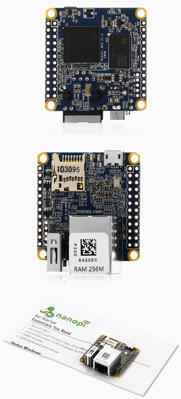 DIY NanoPi NEO RAM 256M Development Board with Quad 1.2GHz CPU Ethernet