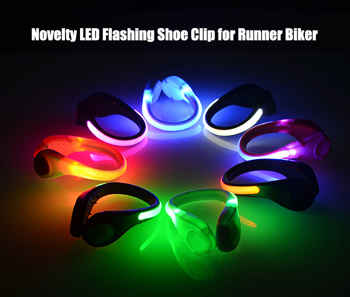 LED Flashing Shoe Clip for Dance Party Trick Toy Christmas Birthday Gift - 1pc
