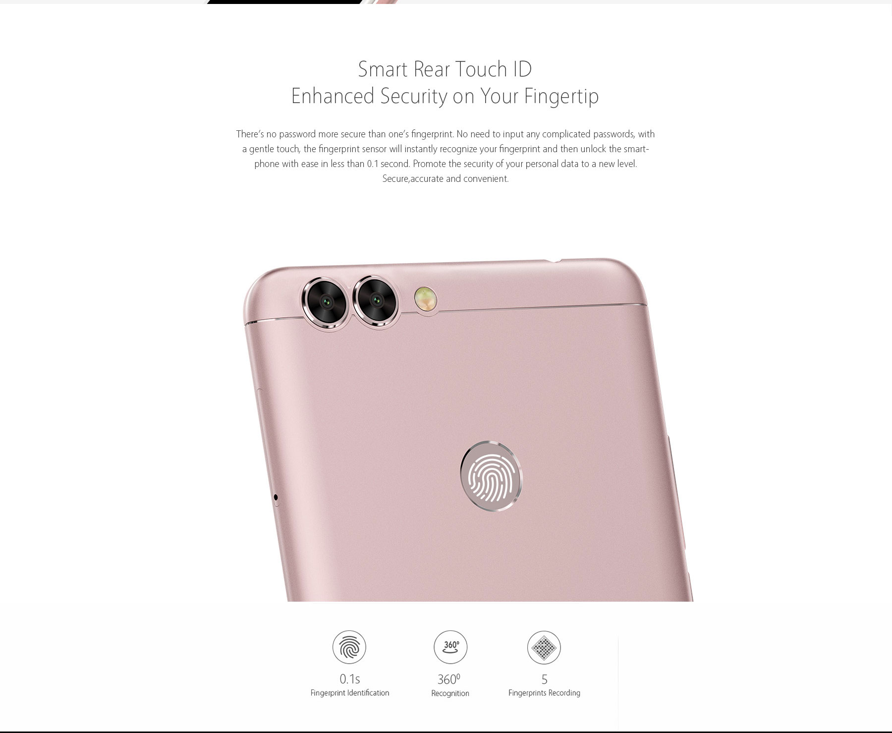 BLUBOO Dual Android 6.0 5.5 inch 4G Phablet MTK6737 Quad Core 1.5GHz 2GB RAM 16GB ROM 2.0MP + 13.0MP Dual Cameras
