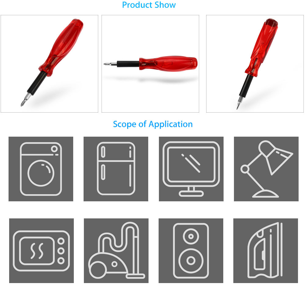 JACKLY Multifunctional 16 in 1 Screwdriver Tool Kit for Disassembling