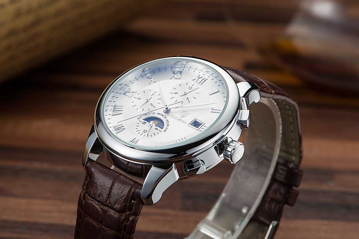 TEVISE 9008G Casual Male Automatic Mechanical Watch Luminous Pointers Wristwatch