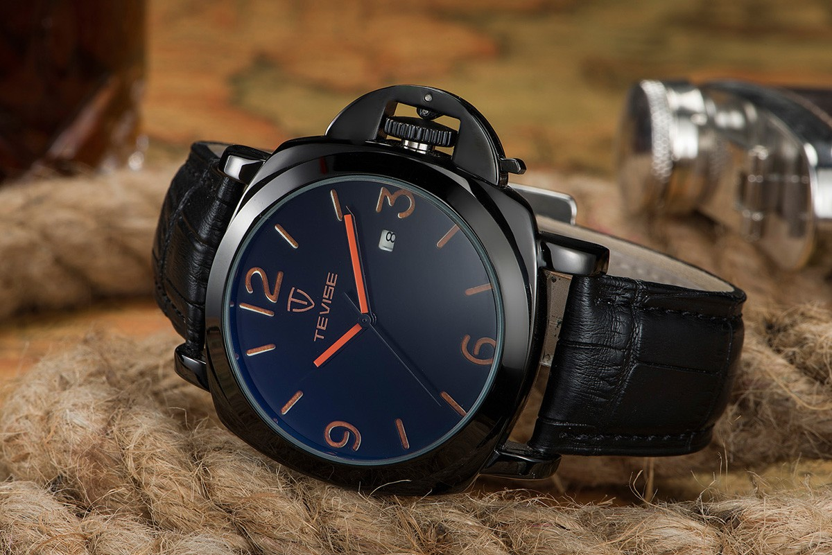 TEVISE 8390 Casual Male Automatic Mechanical Watch Date Window Wristwatch