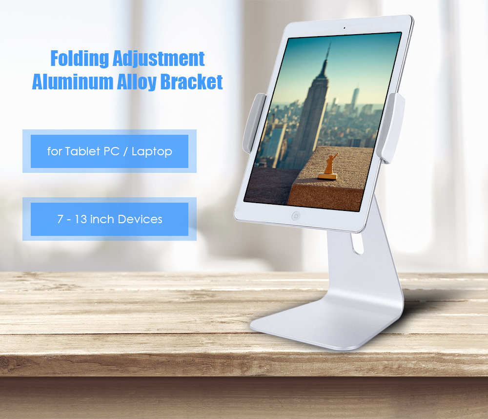 Desktop Aluminium Alloy Bracket Tablet Stand Laptop Holder for 7 - 13 inch Devices