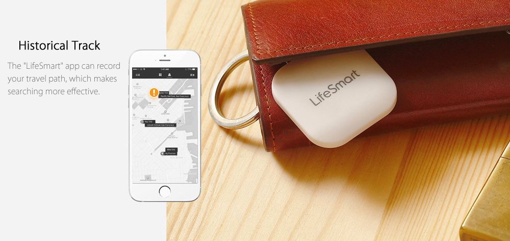 LifeSmart Wireless Bluetooth 4.0 Anti-lost Tracker Reminder Alarm System for iOS Android