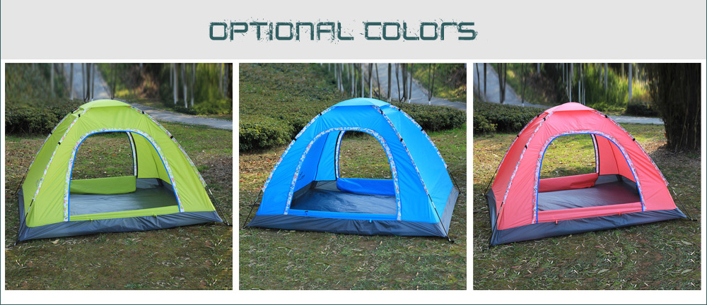 FLYTOP Tough Polyester 4-person Camping Tent with Water-resistant PU-coated Layer