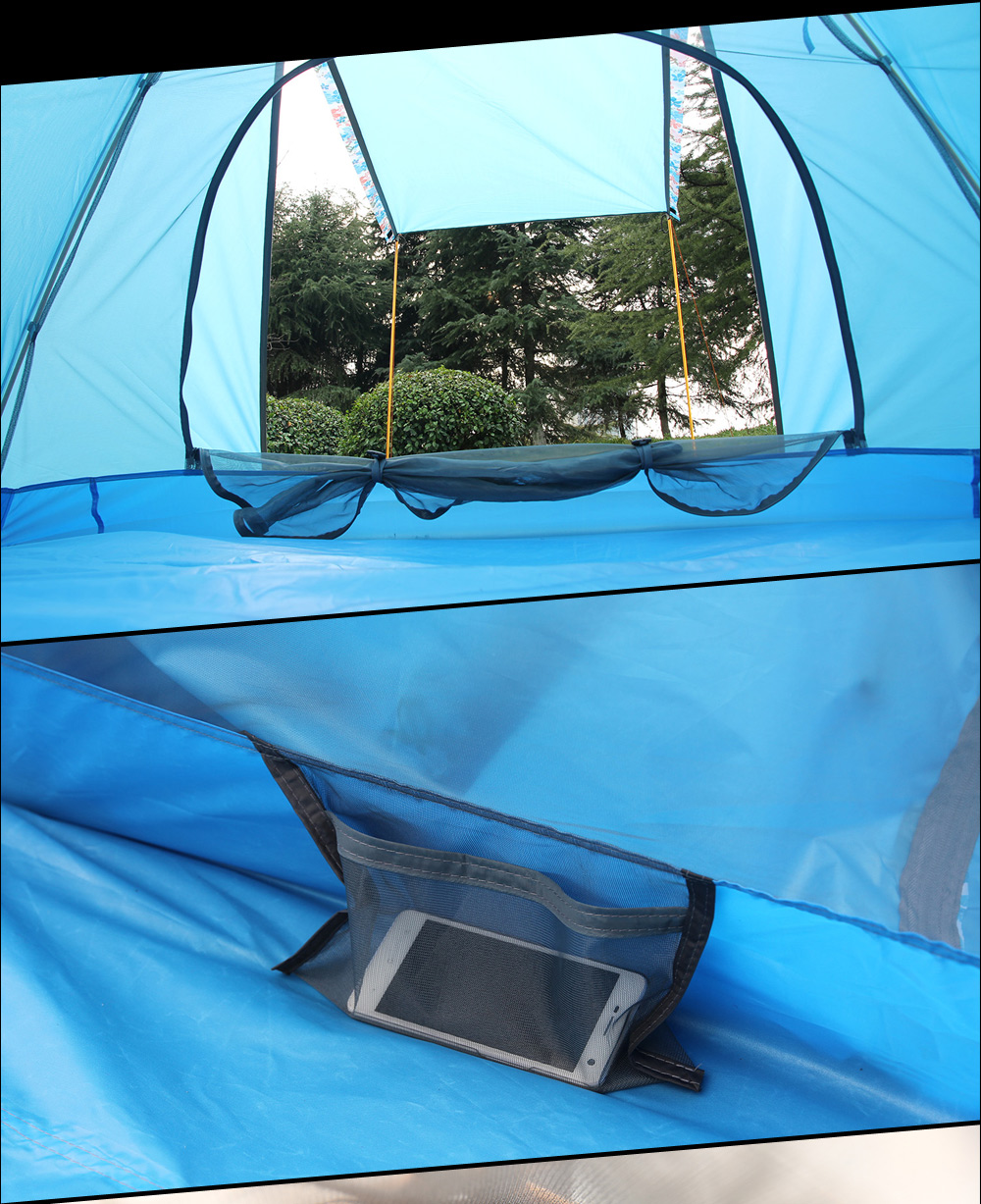 FLYTOP Water-resistant Polyester 4-person Camping Tent with PU-coated Layer