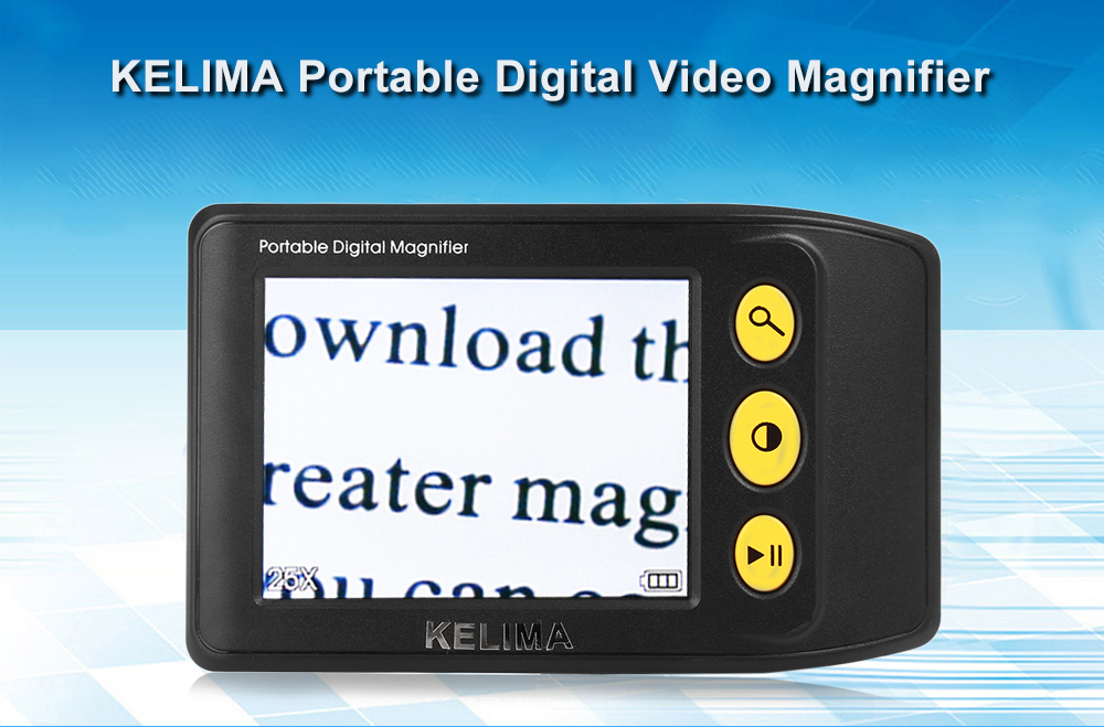 KELIMA 3.5 inch 25x Portable Video Magnifier Reading Aid for Easier Viewing