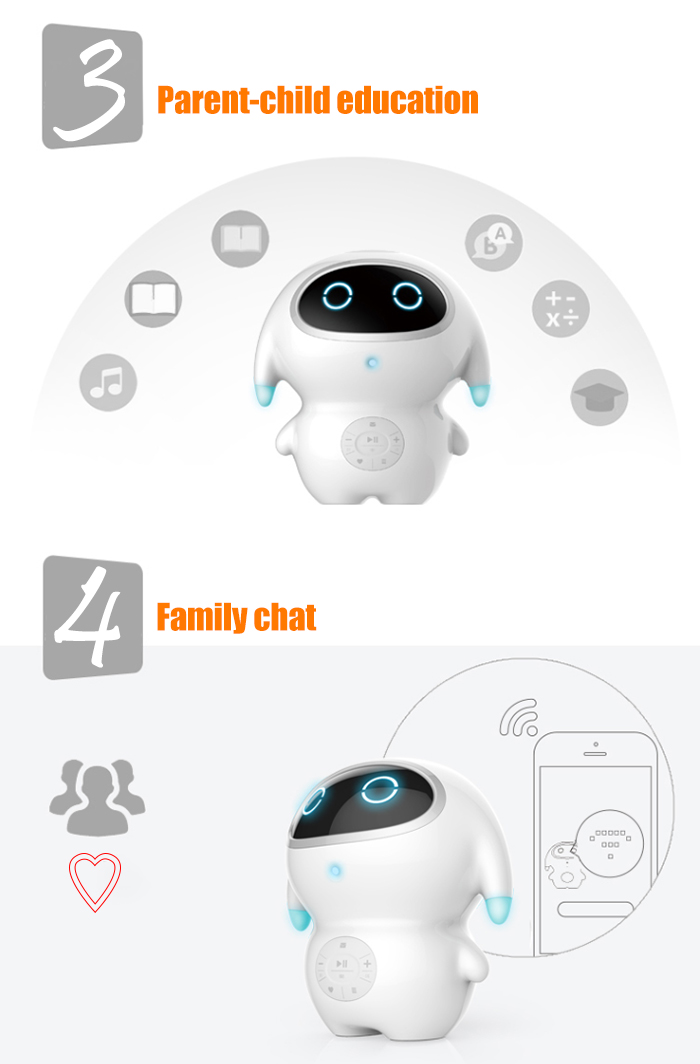 babateng Learning Robot English Smart Interactive Early Robotic Toy