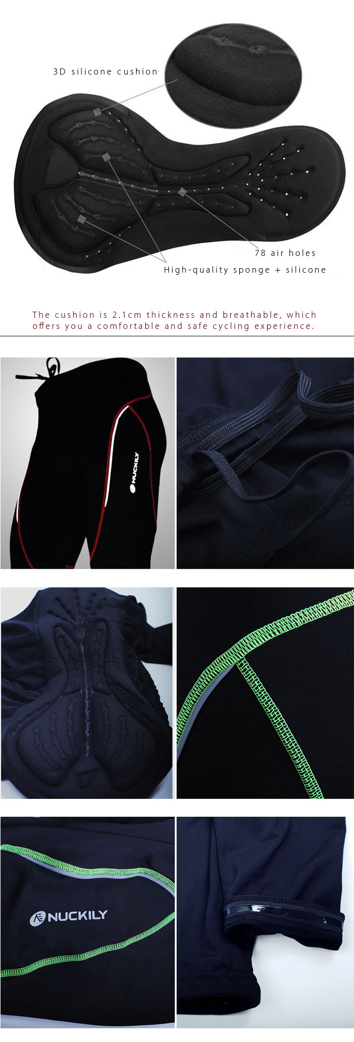 NUCKILY NS903 - W Winter Warm Cycling Pants with Silicone Cushion Reflective Logo