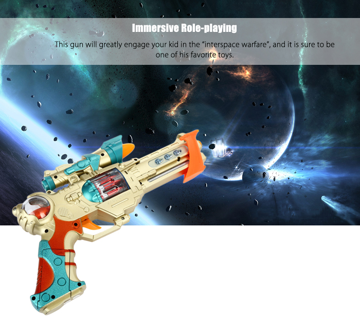 16218A+ Octave Music Submachine Gun with Infrared Emitter Role-playing Toy for Boys