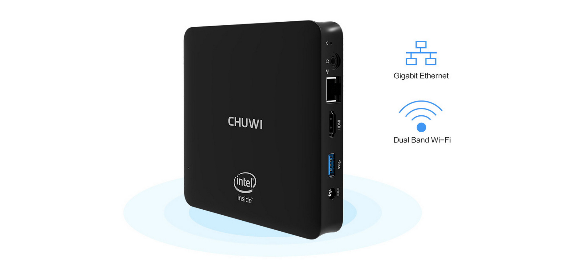 CHUWI HiBox Mini PC Quad Core Intel x5-Z8350 64bit Android 5.1 + Window 10 Dual OS 2.4G / 5G WiFi BT 4.0