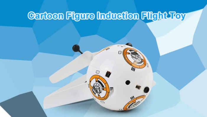 Animation Figure Shape Infrared Control Helicopter Robotic Toy with Colorful Light