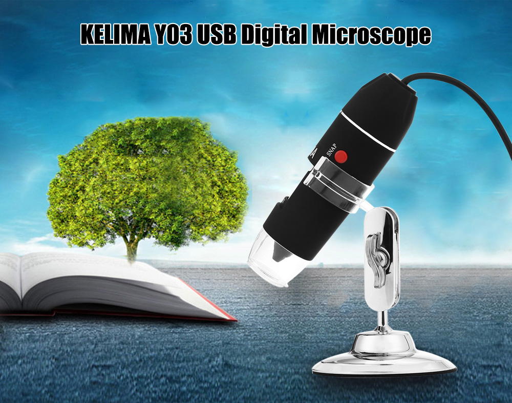 KELIMA Y03 Handheld USB Digital Microscope with 500x Magnifier