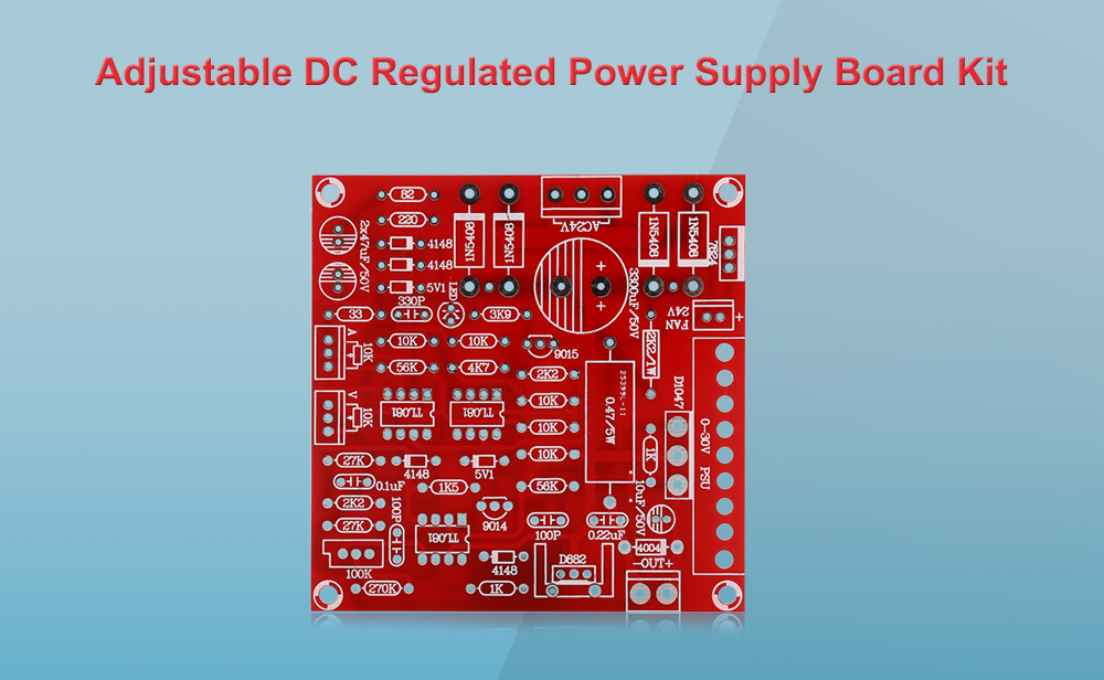 Practical DIY Adjustable Voltage Power Supply Board Kit for Arduino
