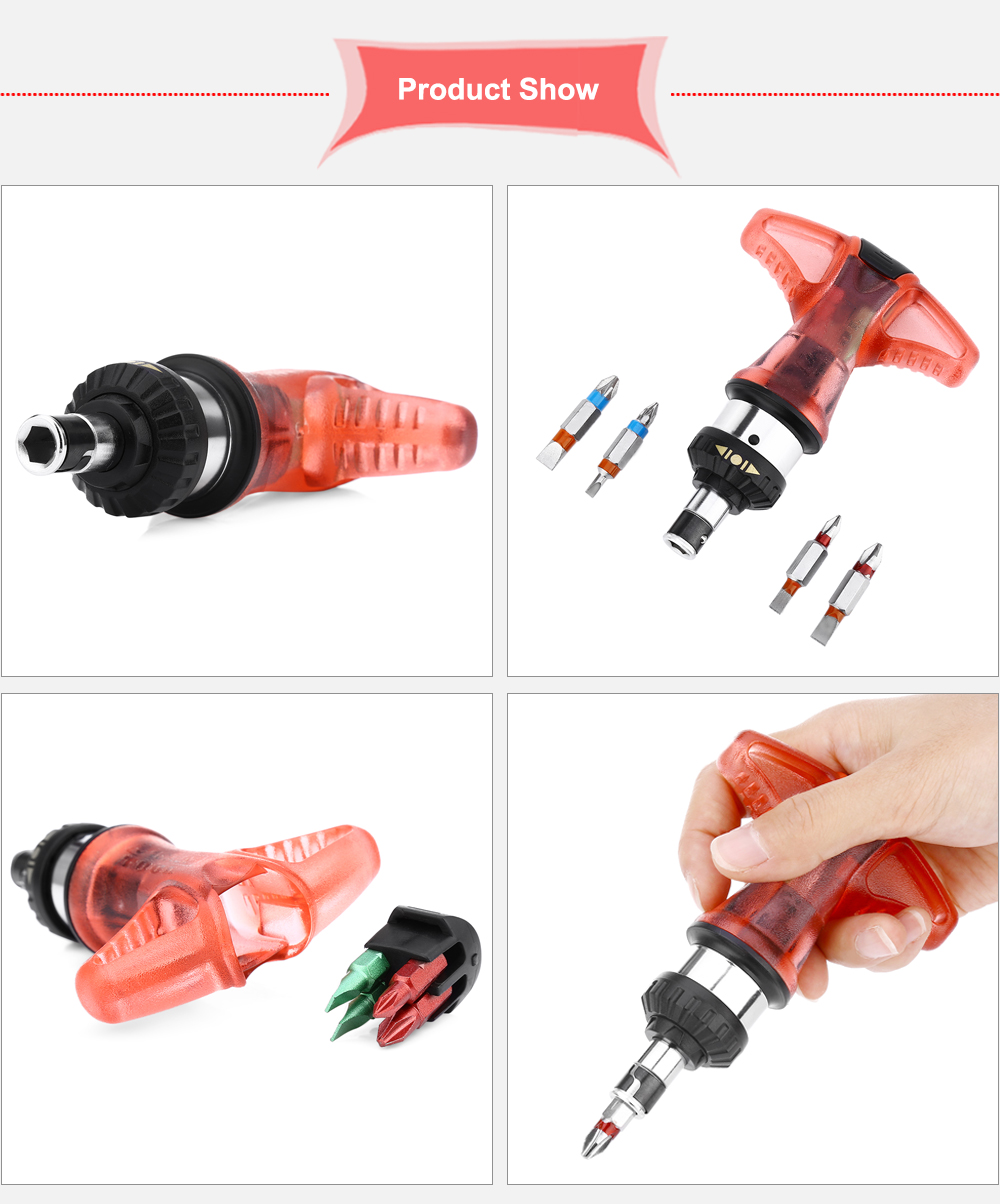 JACKLY Ratchet Screwdriver Tool Kit for Disassembling