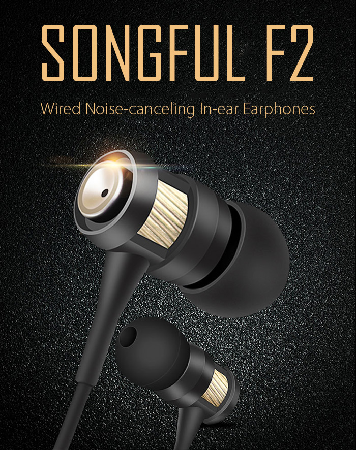 Songful F2 HIFI Wired-auricolari a cancellazione di rumore