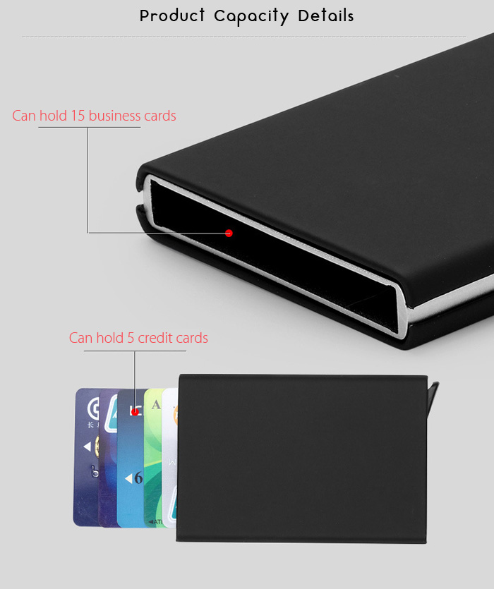 Automatic Pop-up RFID-blocking Card Holder Creative Multifunctional Wallet
