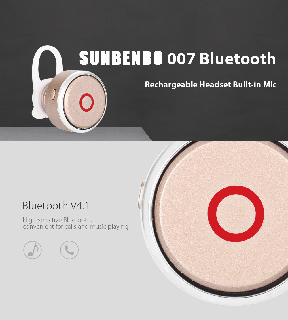 SUNBENBO 007 Bluetooth V4.1 Headset with Calls Answer Function